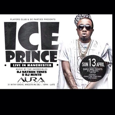 @iceprincezamani Performing Live @ Manchester at Aura bar & Lounge Manchester in Manchester