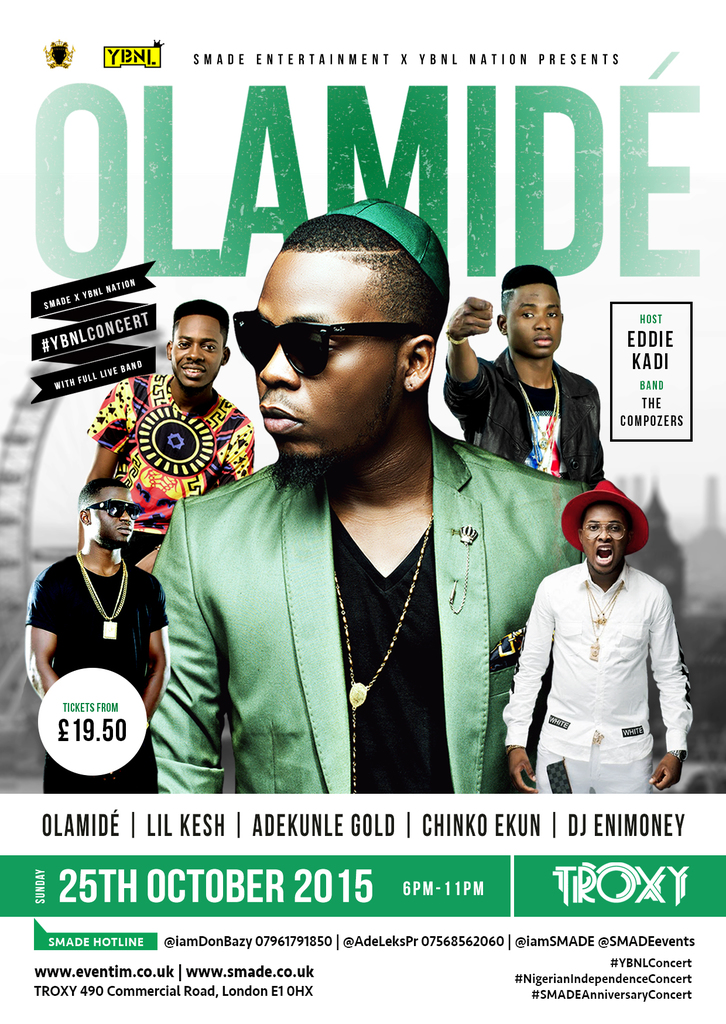 OLAMIDE YBNLCONCERT 25TH OCTOBER tickets Troxy Arena ...