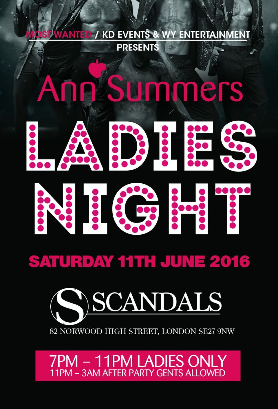ann summers ladies night show after party tickets scandals bar. Black Bedroom Furniture Sets. Home Design Ideas