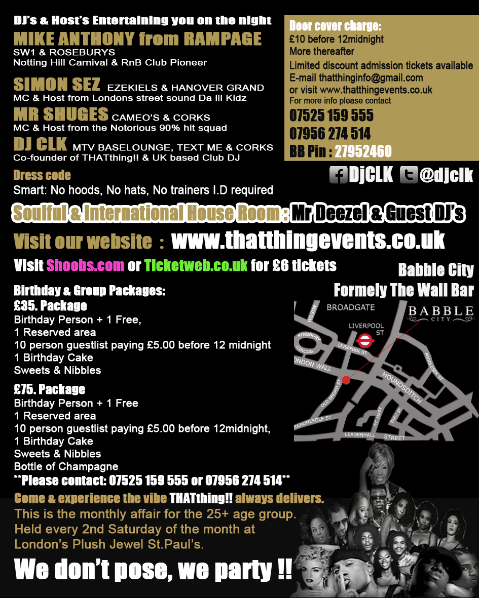 THATthing!! Sat 9th June @ Babble City aka The Wall