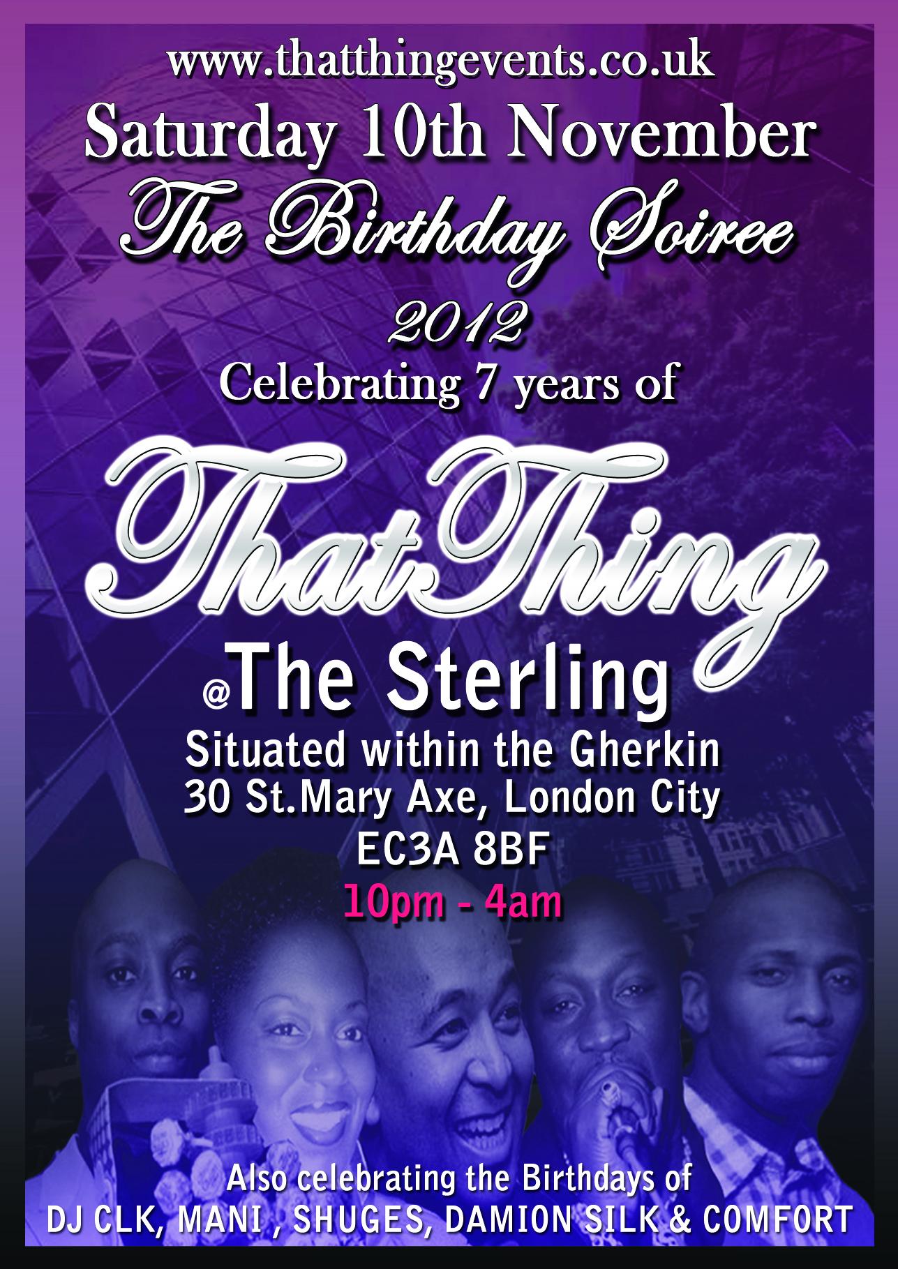 ThatThing The Birthday Soiree 2012