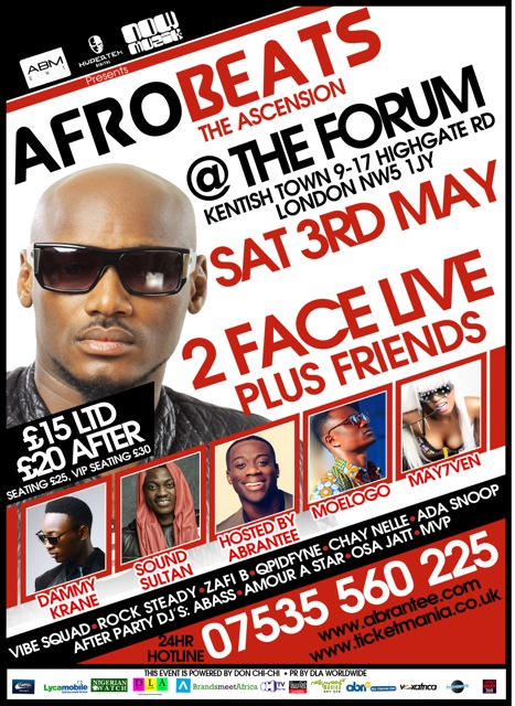 2 FACE LIVE IN LONDON