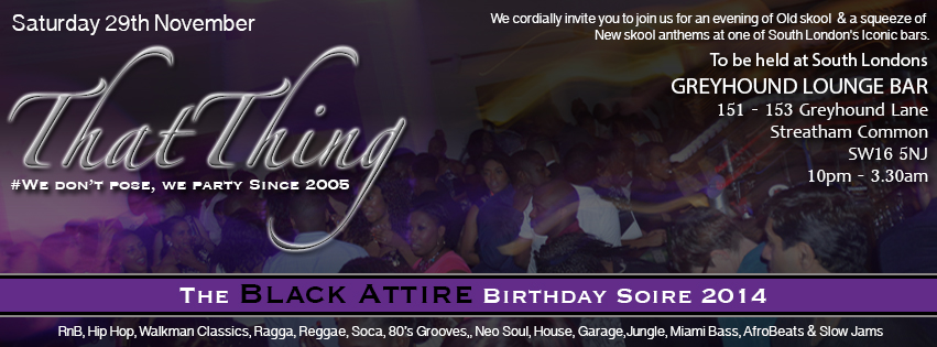 ThatThing The Black Attire Birthday Soiree
