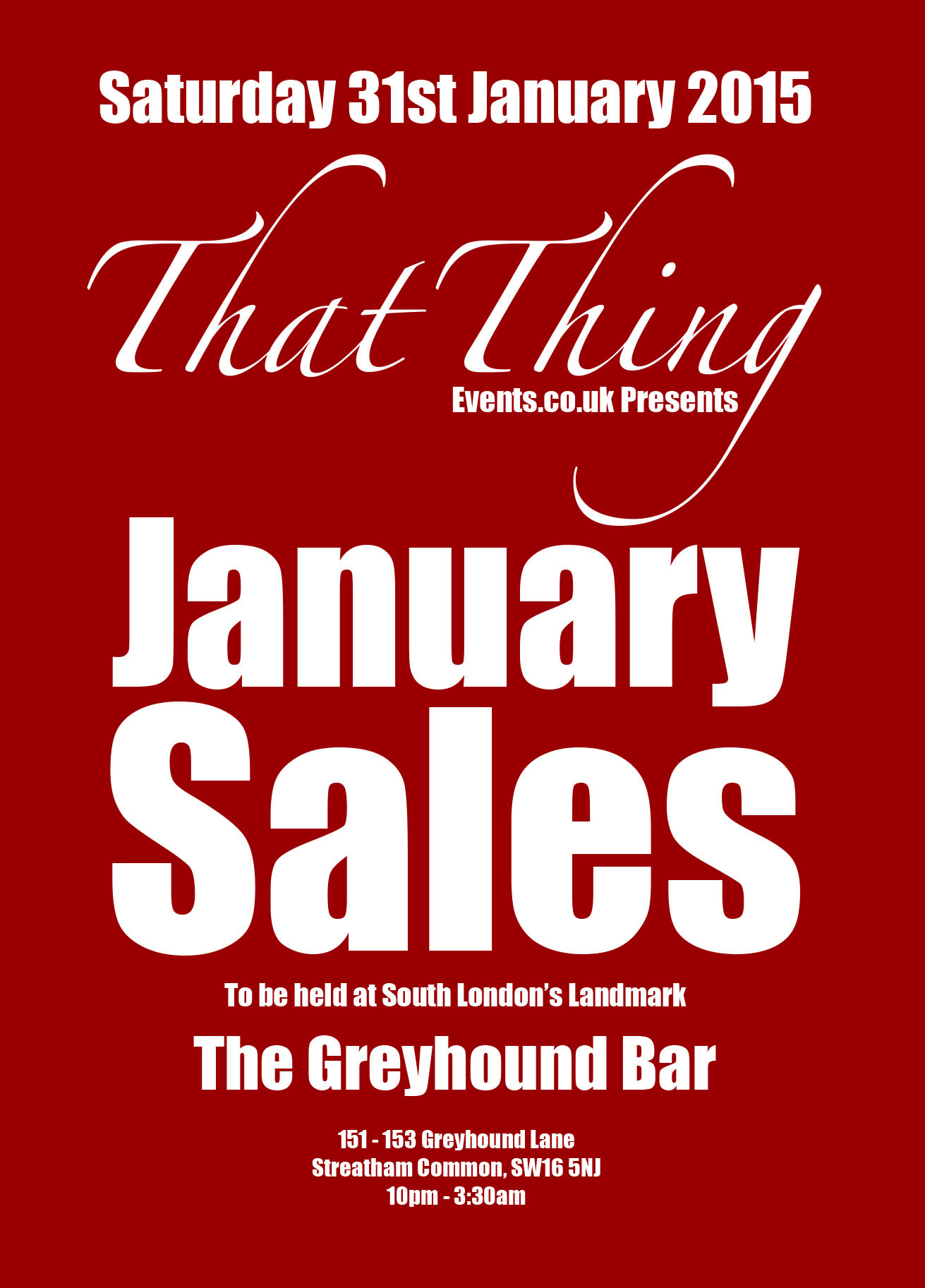 ThatThing January Sales @ The Greyhound