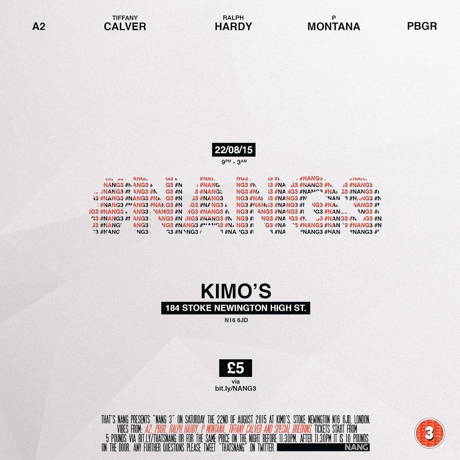 NANG | AUGUST | KIMO'S