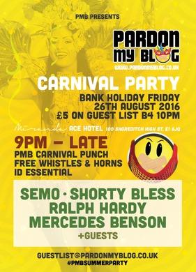 Pardon My Blog's Carnival Party