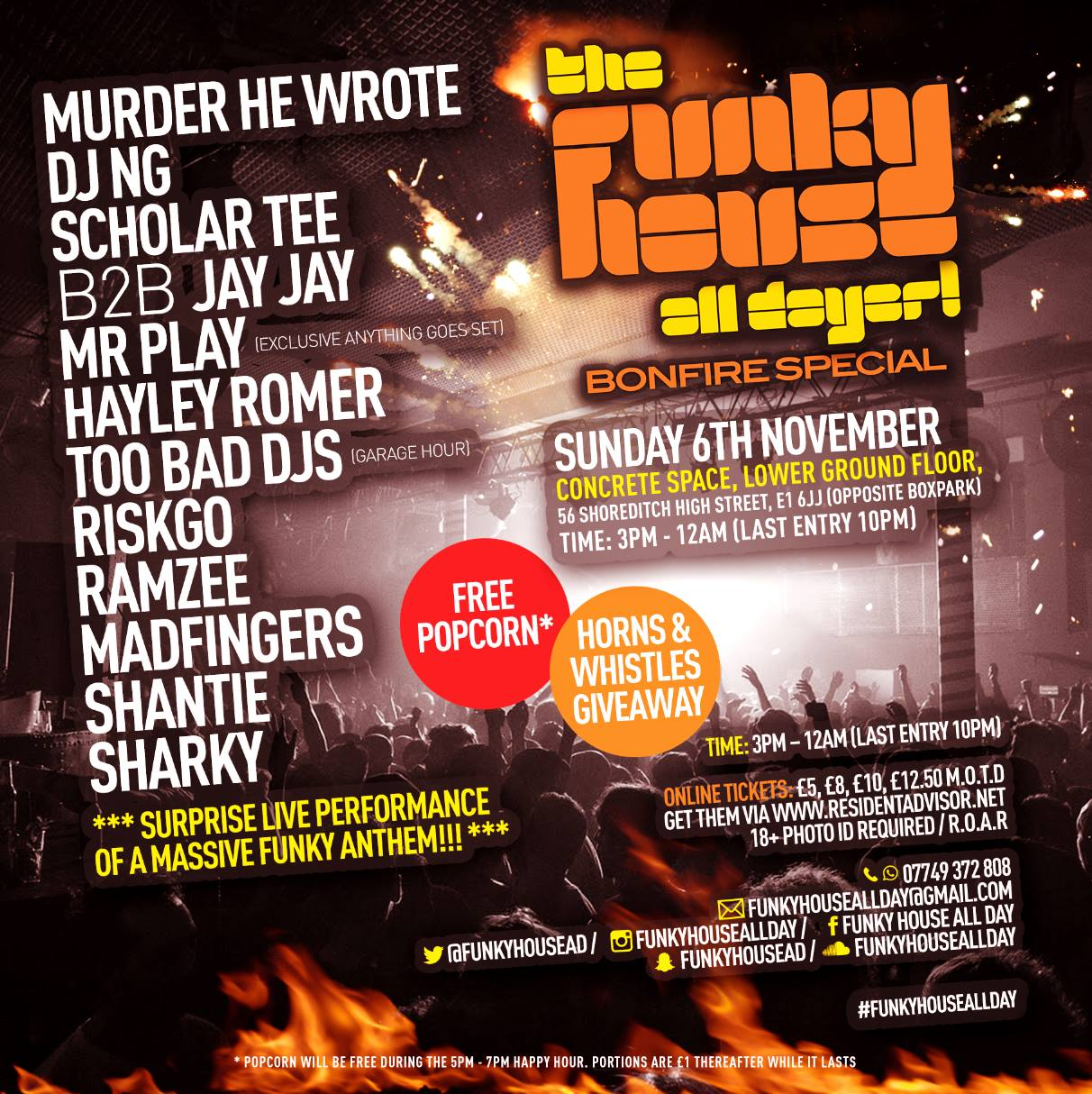 The Funky House All Dayer (Bonfire Special)