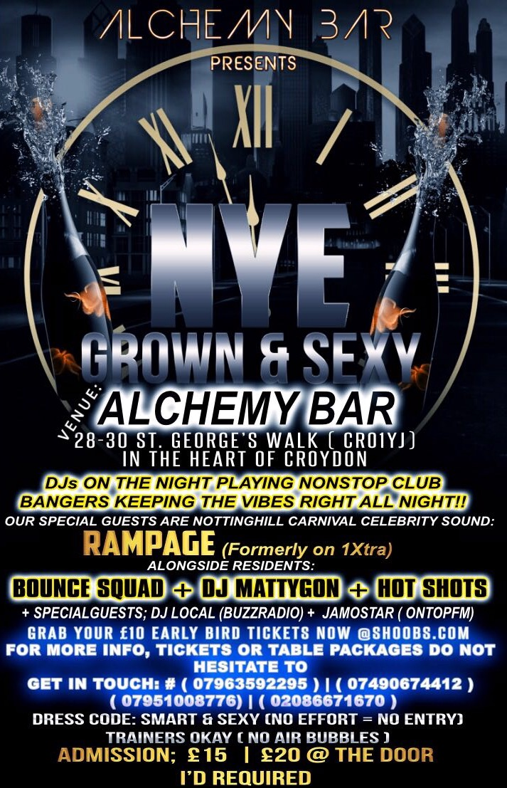 NYE the Grown & Sexy Extravaganza