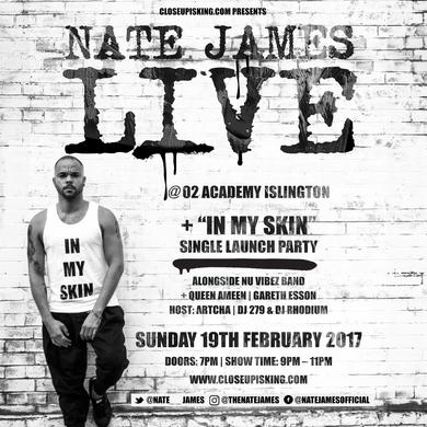 NATE JAMES LIVE @ O2 ACADEMY ISLINGTON