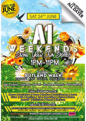 A1 Weekends Summer Special SATURDAY 24th JUNE