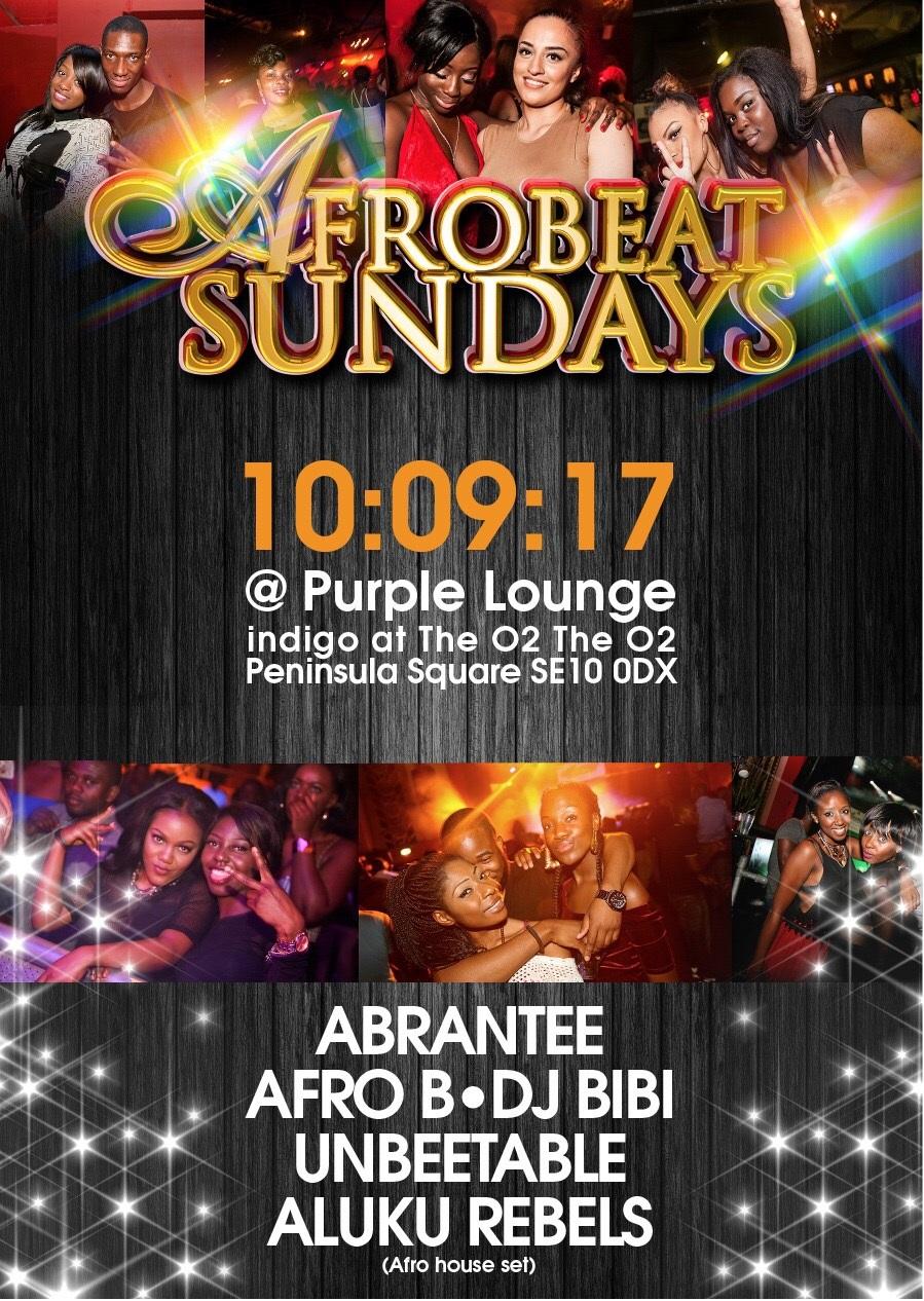 AFROBEAT SUNDAYS !!!