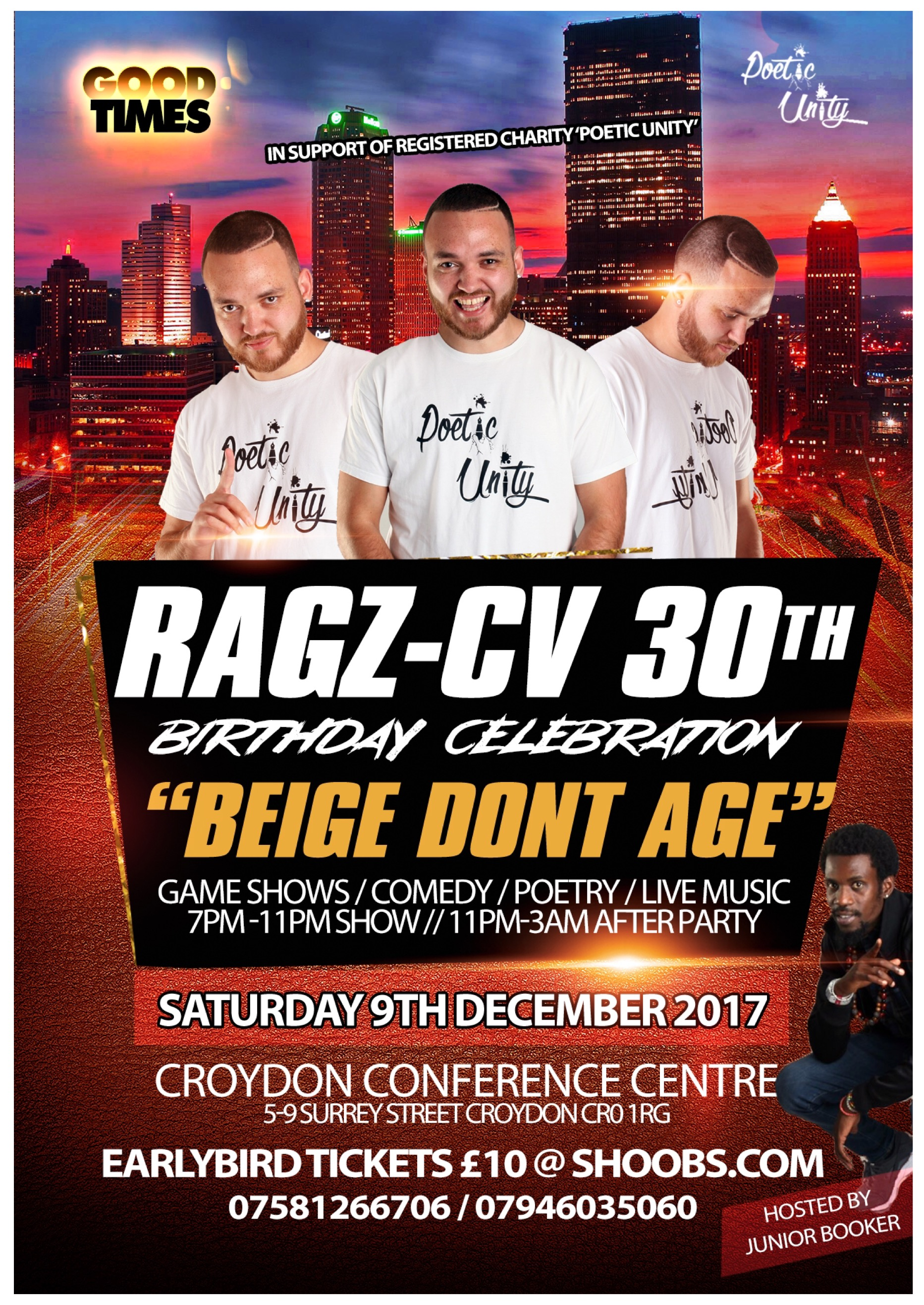 Ragz-CV 30th Birthday Show + After Party