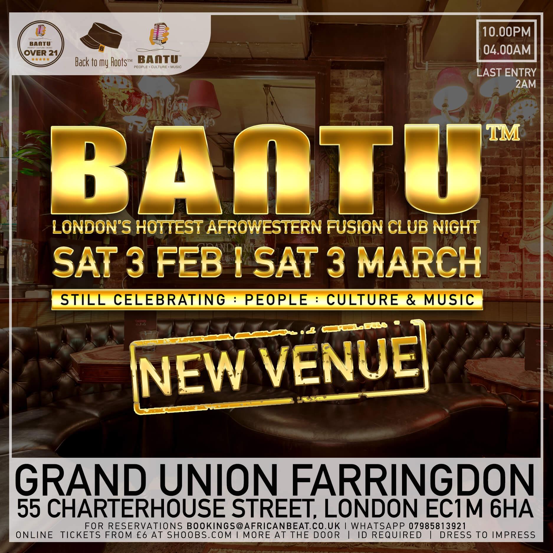BANTU Sat 3 Feb