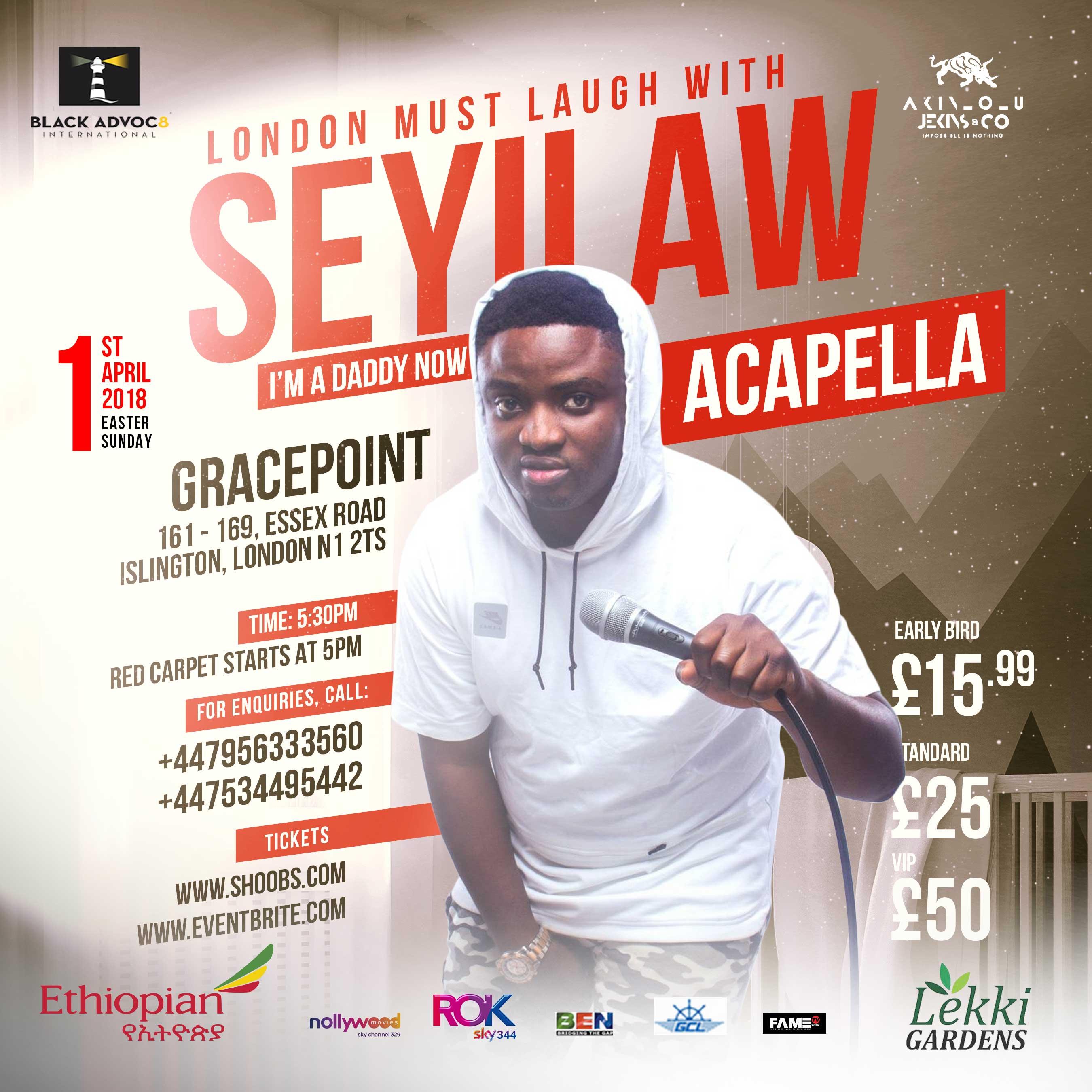 London Must Laugh w/ SeyiLaw, 9ice,Odunlade