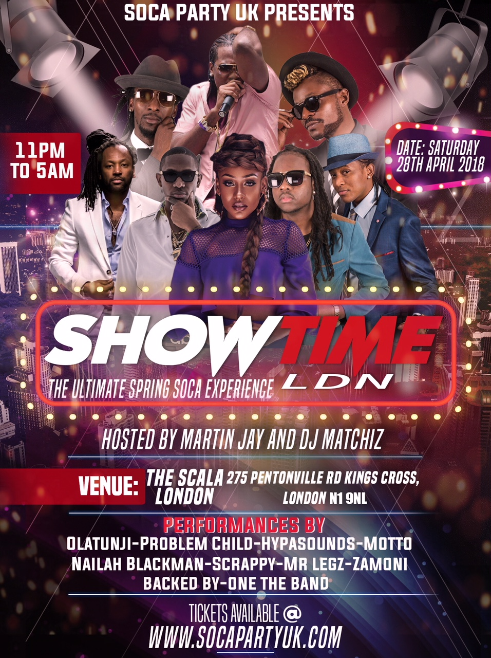 SHOWTIME LDN - The Spring Soca Experience