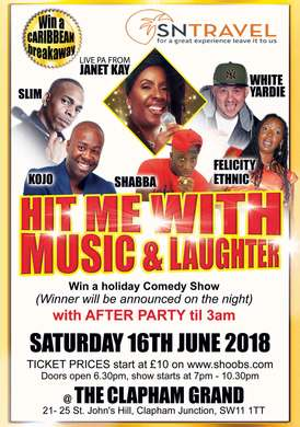 Hit me with music & laughter SUMMER COMEDY