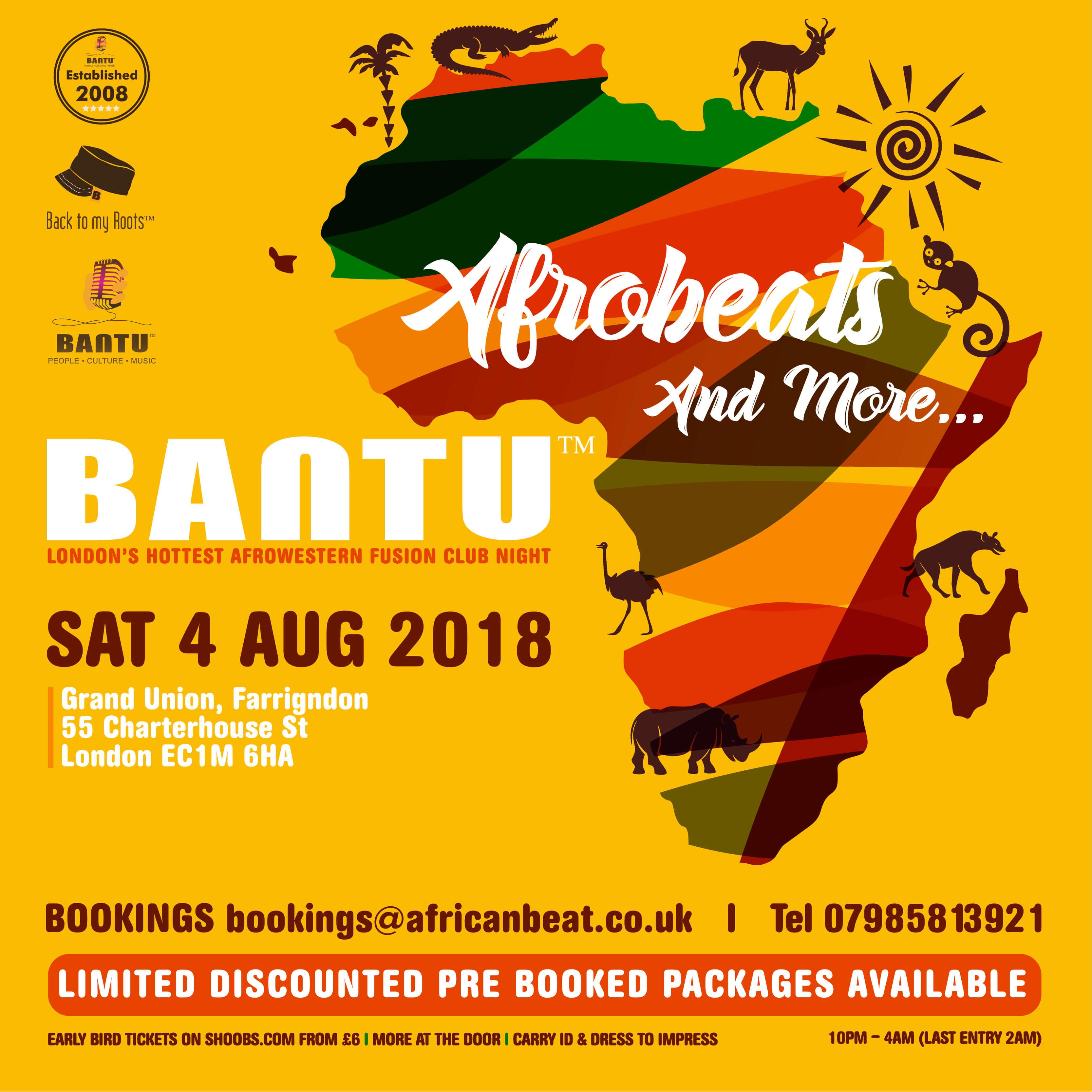 BANTU on Sat 4 Aug