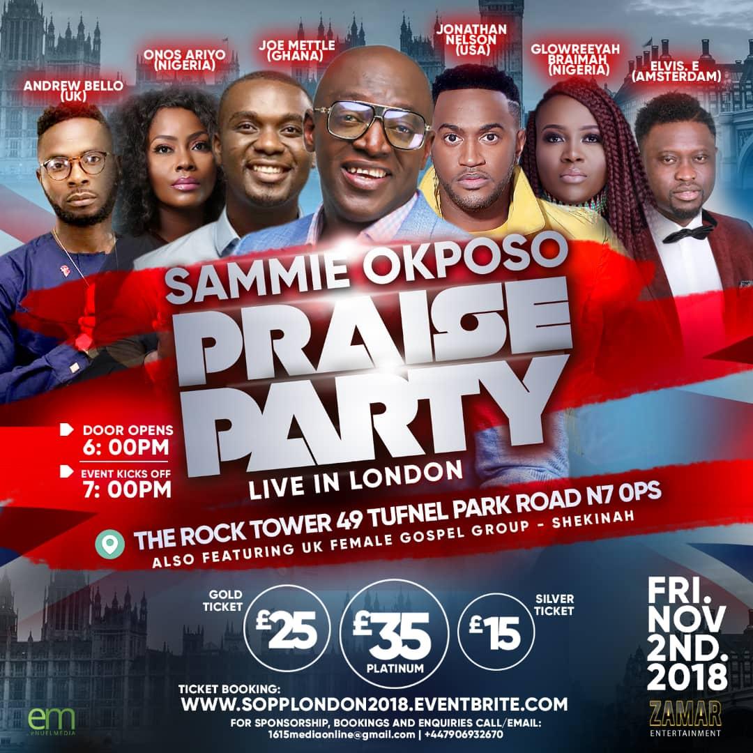 SAMMIE OKPOSO Praise Party LONDON