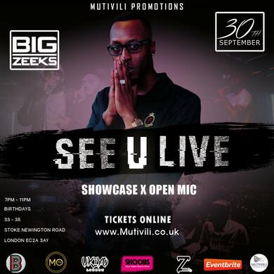 See U Live Showcase & Open Mic