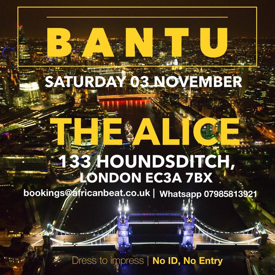 BANTU on Sat 3 Nov
