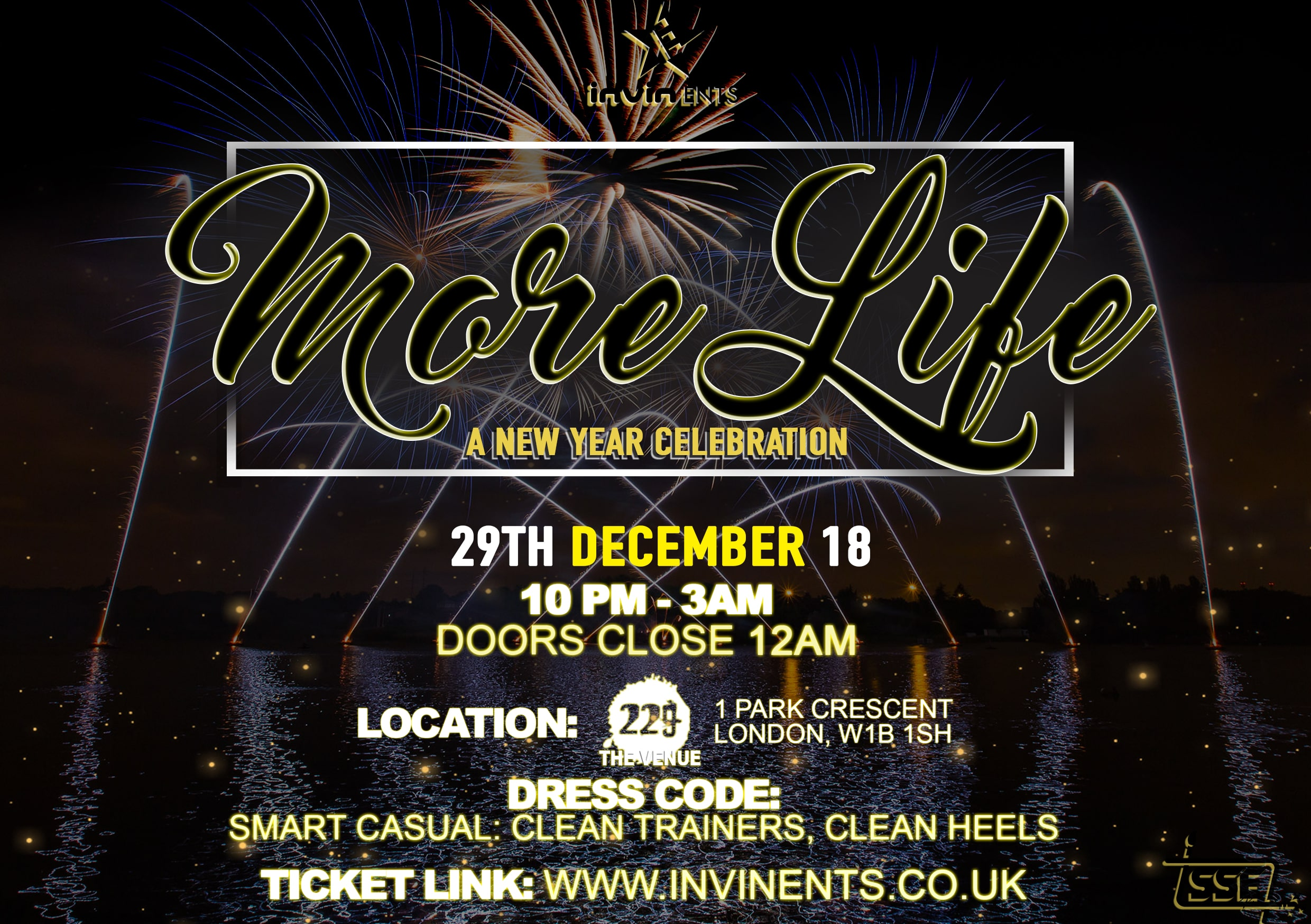 MORE LIFE: A New Year celebration.
