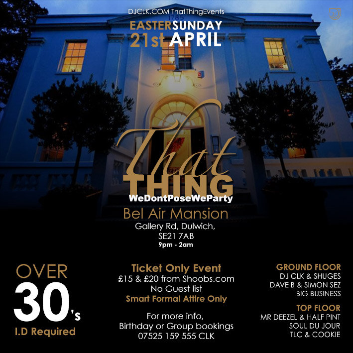 ThatThing Easter Sunday At Bel Air House