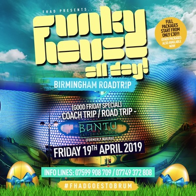 Funky House All Day Goes To Birmingham