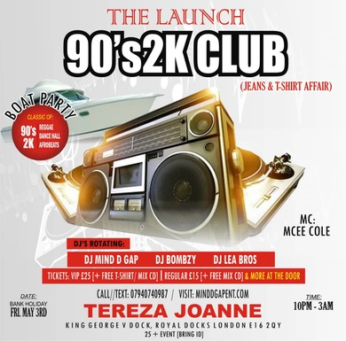 THE 90's2K CLUB (BOAT PARTY)