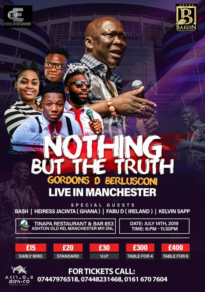 Nothing But The Truth w/ Gordons #Manchester