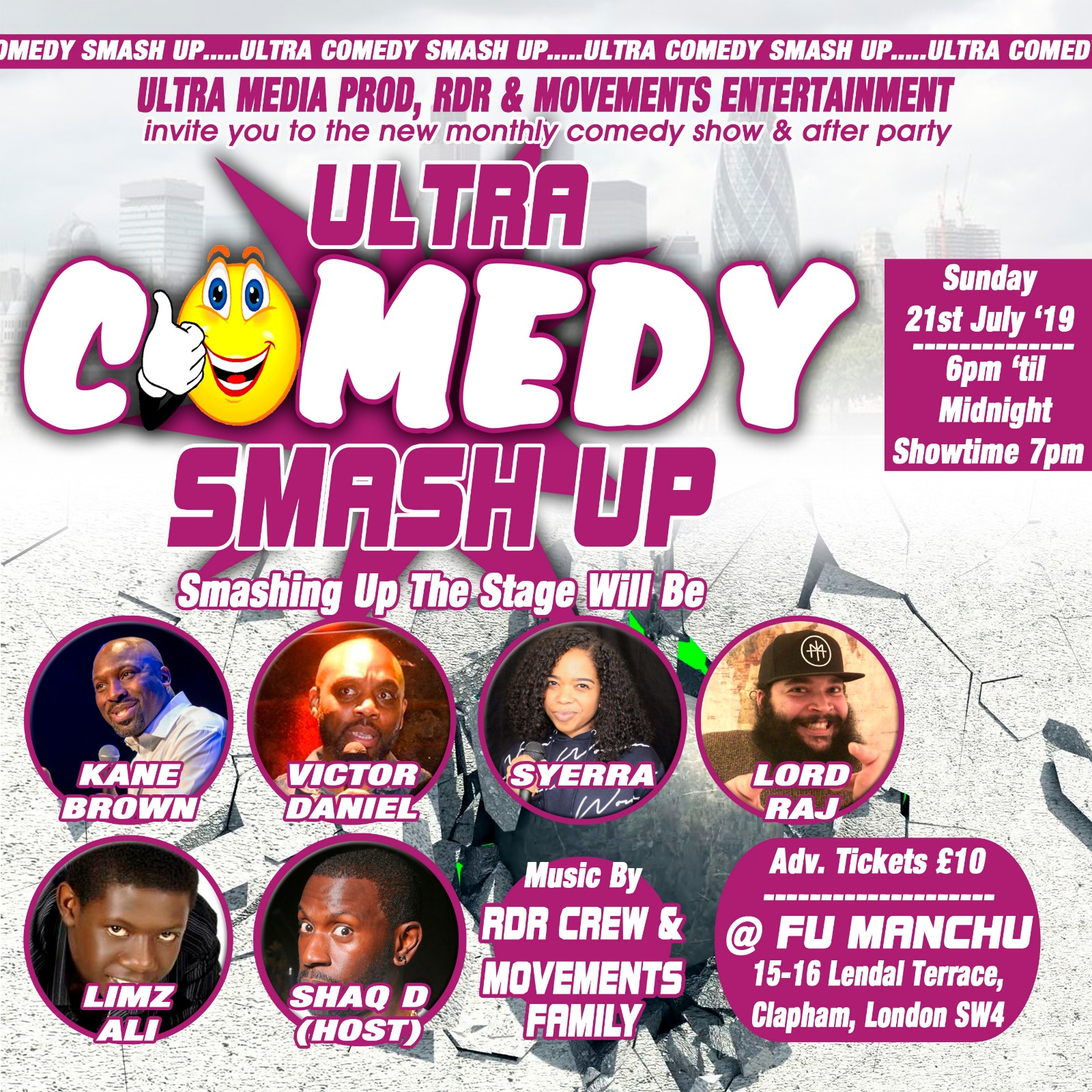 Comedy Smash Up & After Party