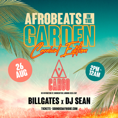 Afrobeats in the Garden. Carnival Edition