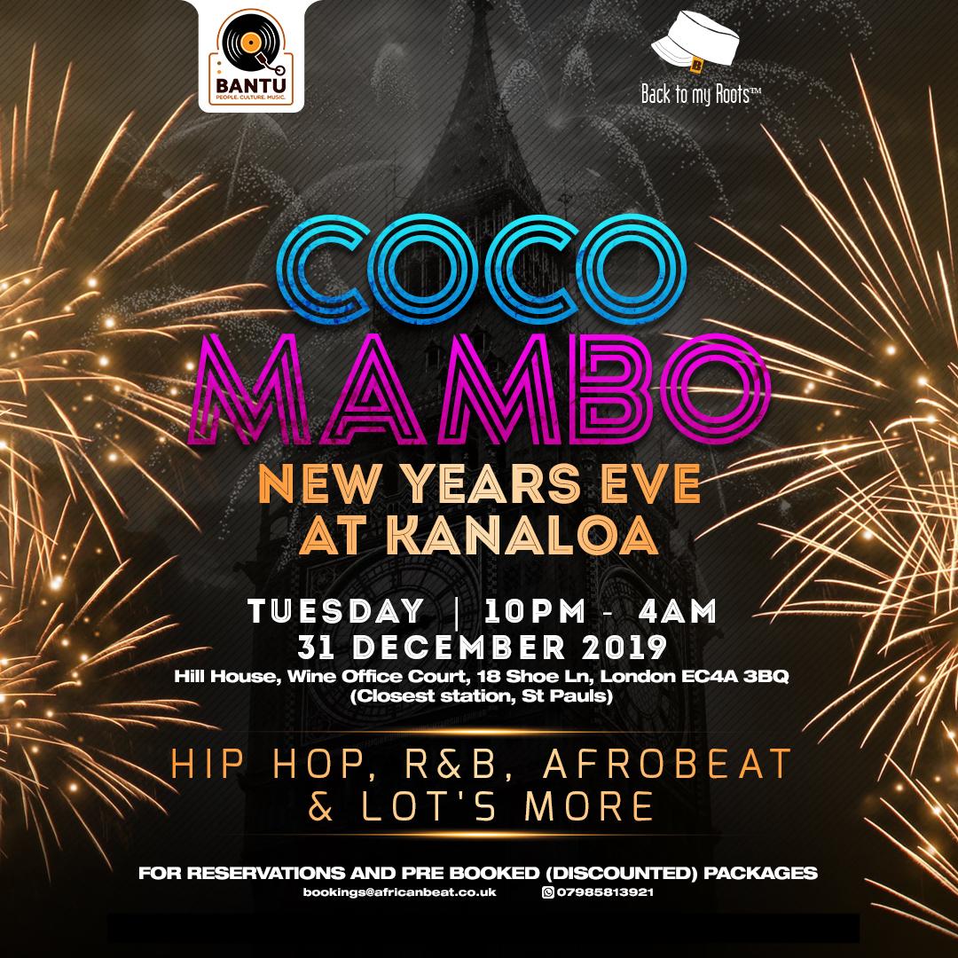 CoCo Mambo NYE Party at Kanaloa