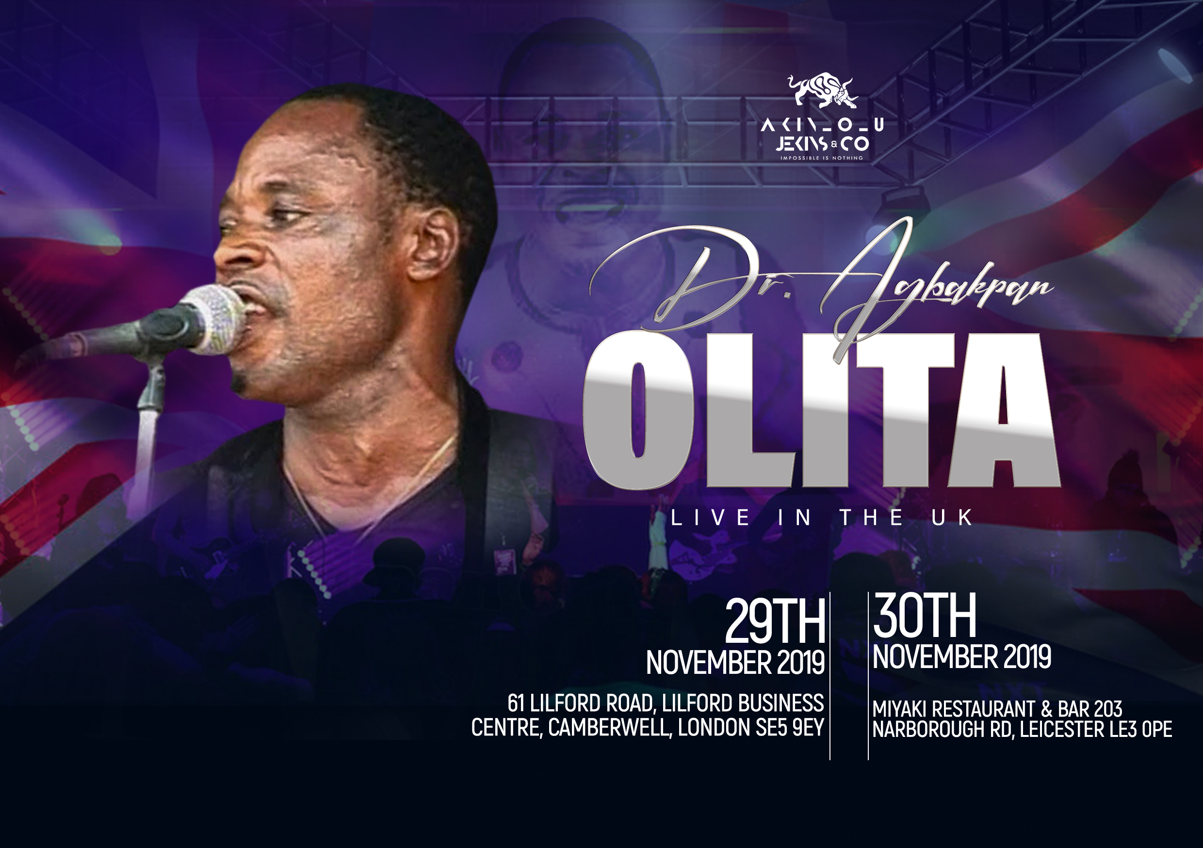 Dr. Agbakpan Olita Live on stage in Leicester