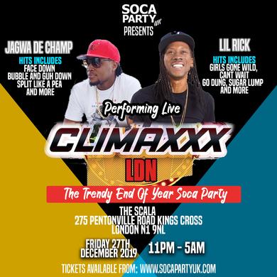 CLIMAXXX LDN - Trendy End Of Year Soca Party