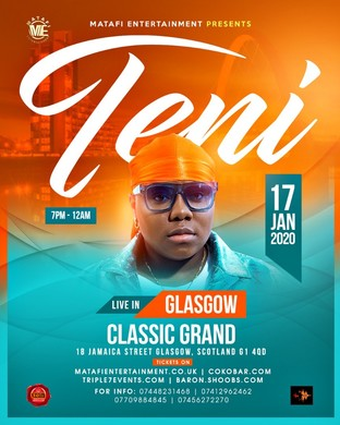 TENI Live in Glasgow