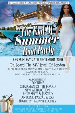 THE END OF SUMMER BOAT PARTY!