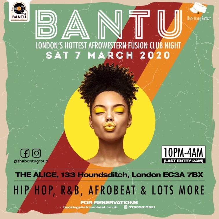 BANTU on Sat 7 March