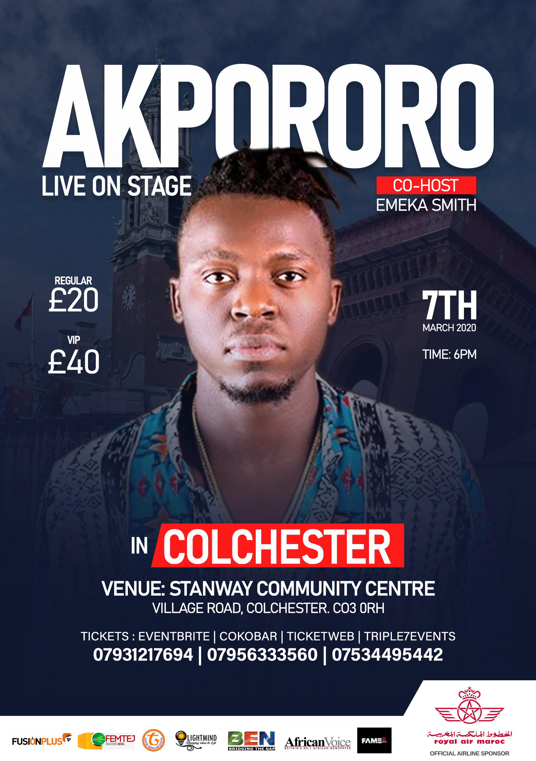 Akpororo Live On Stage COLCHESTER