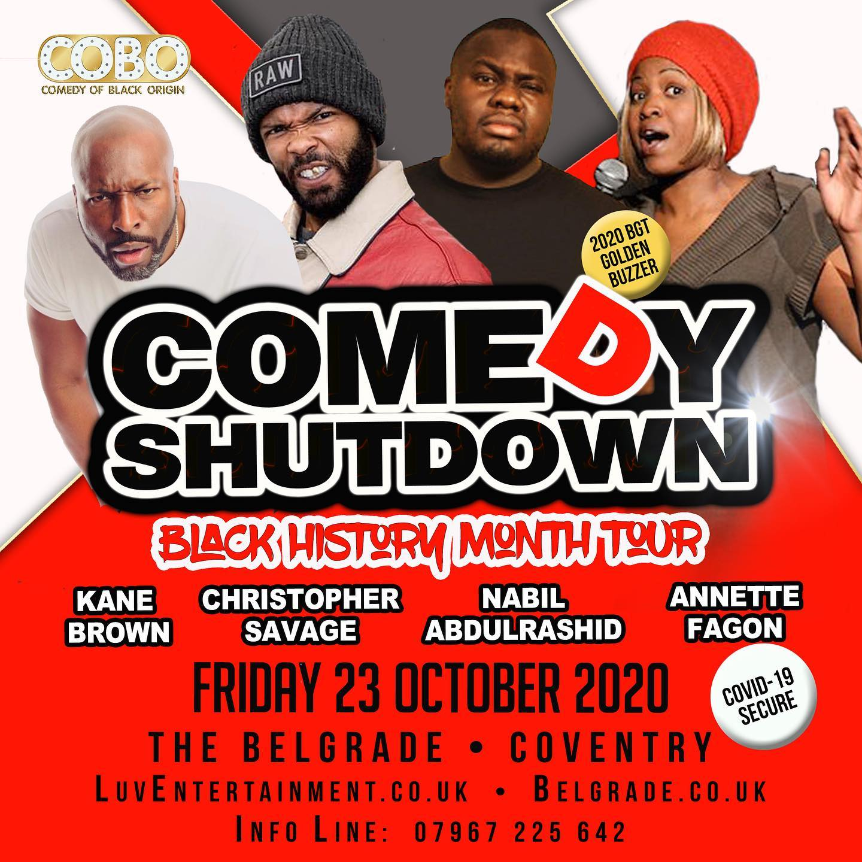 Comedy Shutdown Black History Month Coventry