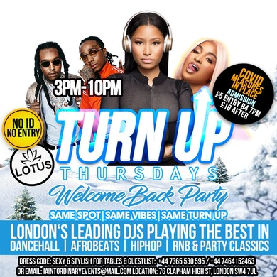 TURN UP THURSDAYS - Welcome Back Party