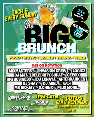 THE BIG BRUNCH Every Sunday (Verzuz Edition)