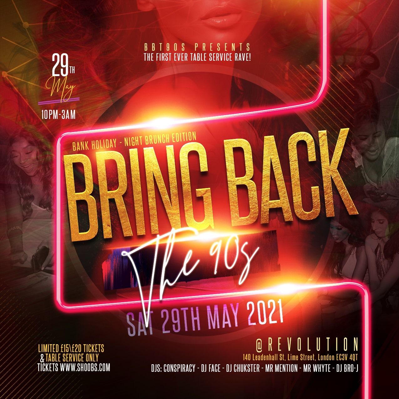 SOLD OUT(NIGHT-BRUNCH) BRING BACK THE 90S 2