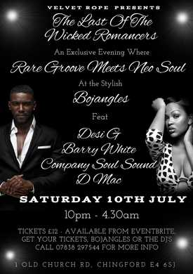 Rare Grooves and Soul Night in Chingford