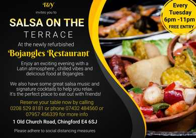 Salsa on the Terrace – A Refined Dining Experience at Bojangles in Chingford.