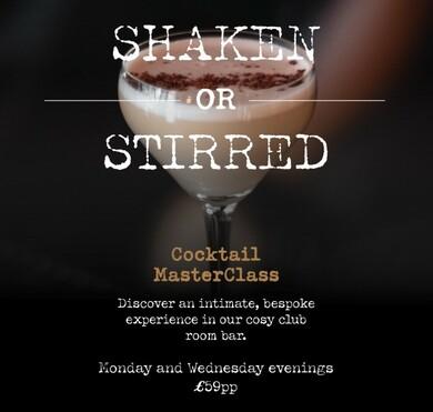 Shaken or Stirred - Cocktail Masterclass