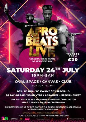 Afrobeats Live (Celebrating 10 Years) July