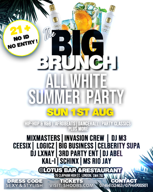 THE BIG BRUNCH - SUMMER ALL WHITE PARTY