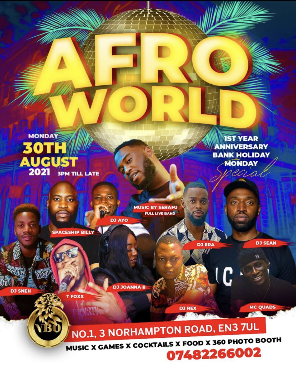 AFRO WORLD BANK HOL. MONDAY SPECIAL @VBO