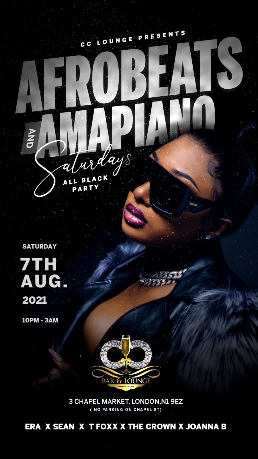 AFROBEATS & AMAPIANO SATURDAYS (ALL BLACK PARTY)