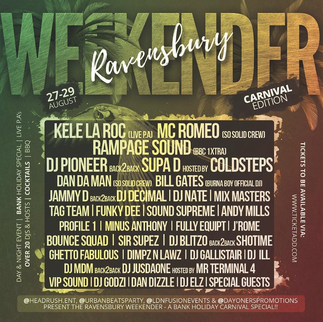 Ravensbury Weekender